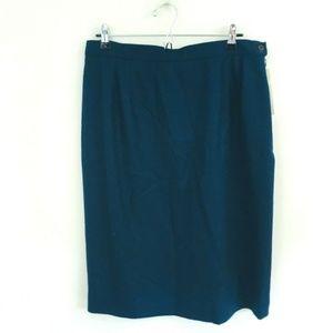 NWT! Pendleton Navy Blue Wool Pencil Skirt 16